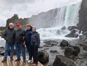 Dan, Dad, Michelle, Deb preserving memories