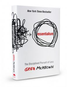 Essentialism personal goal setting