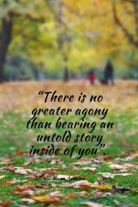Maya Angelou Quote full size bearing witness