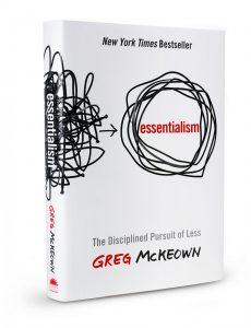Essentialism personal goal setting